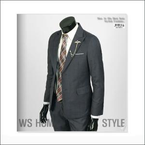 ジャケット スーツ 上着 ブレーザー ネイビー チェック スリムスーツ jj253j|coconoco