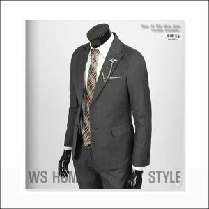 ジャケット スーツ 上着 ブレーザー ネイビー チェック スリムスーツ jj254j|coconoco