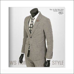 ジャケット スーツ 上着 ブレーザー 淡い ブラウン スリムスーツ jj255j|coconoco