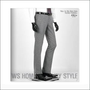 スラックス メンズ パンツ 淡い ネイビー jj256p|coconoco