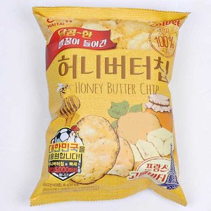 ハニーバターチップ 韓国 ヒット ポテトチップス お菓子 スナック 60g 1袋 ヘテ製菓