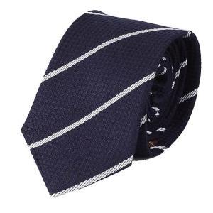 ネクタイ ネイビー 紺色 ストライプ ソフトな手触りのマイクロチェク生地 ネクタイ 大剣幅 7cm ntm6161|coconoco