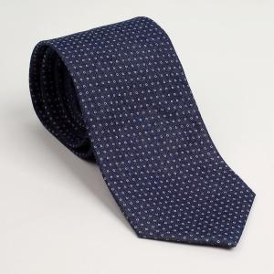 ネクタイ ネイビー、ブルー色 マイクロ・ドット柄 マット質感 ネクタイ 大剣幅 8.5cm ntm6200 coconoco