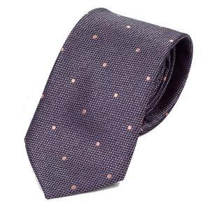 ネクタイ メンズ ドット 織り柄 メッシュ織り生地 グレー 灰色 大剣幅 7cm ntm6287|coconoco