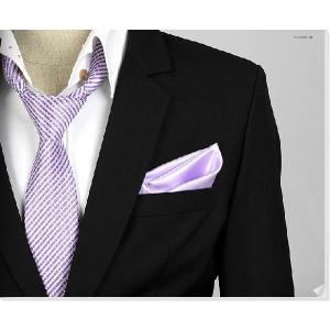 穏やかな光沢のポケットチーフ サテン生地 ライトパープル!  PC02 |coconoco