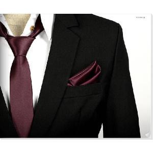 穏やかな光沢のポケットチーフ サテン生地 ソリッド ワイン!  PC11 |coconoco