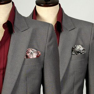 ポケットチーフ 綿TC素材使用 チェック柄 ブラック、レッドの2色  PC27 |coconoco