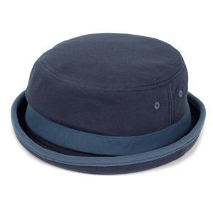 ポークパイハット メンズ レディース スウェット ブルー 青色 ハット帽子 男女兼用 帽子 58cm フリーサイズ|coconoco