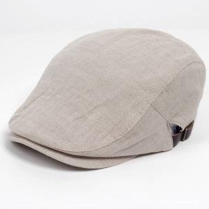 ハンチング帽子 メンズ レディース ベージュ ウォッシュ ハンチング キャップ 帽子 58.5cm 調整可 サイドスナップ・ベルト付き 春夏新作 RUBEN coconoco