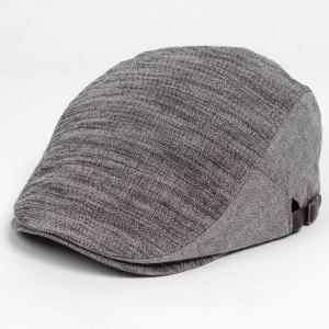 ハンチング帽子 メンズ レディース ブラック グレー ウォッシュ ハンチング キャップ 帽子 58....