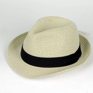 ペーパー 中折れハット ベージュ 色 ハット帽子 ツバ先 ワイヤー入り 男女兼用 メンズ レディース 帽子 58cm フリーサイズ 微調整可能|coconoco
