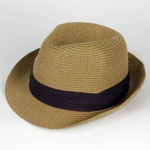 ペーパー中折れハット キャメル ハット ツバ先 ワイヤー入り 男女兼用 メンズ レディース 帽子 58cm フリーサイズ 微調整可能|coconoco