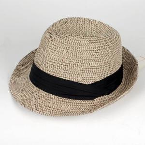 中折れハット ペーパー ミックス ベージュ ツバ先 ワイヤー入り メンズ レディース 男女兼用 帽子 58cm フリーサイズ 微調整可能|coconoco