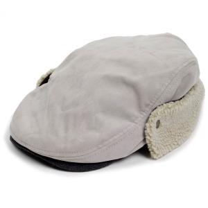 ハンチング帽 メンズ 冬 シーズン スウェード ボア フライト 耳あて グレー 灰色 ハンチング キャップ 帽子 サイズ 58cm ゴムバンド式|coconoco