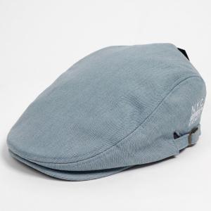ハンチング メンズ レディース サックスブルー 空色 デニム NYC刺繍 帽子 58cm サイドスナップ・キャップ 調整ベルト付き SAXE BLUE|coconoco