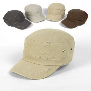 ダメージ加工 ヴィンテージ風 ミリタリー キャップ 帽子 ベージュ色  yt05bg |coconoco