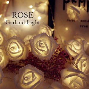 間接照明 ガーランド ライト ローズ LED イルミネーション 飾り 照明 電飾 電球 インテリア|cocorocreation