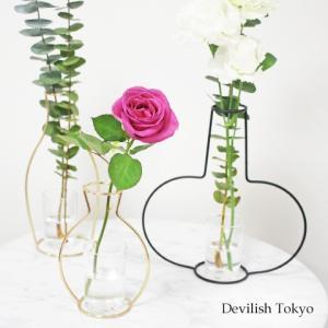 花瓶 フラワー ベース 型 アイアン フレーム おしゃれ 北欧 インテリア ワイヤー 花びん 花|cocorocreation