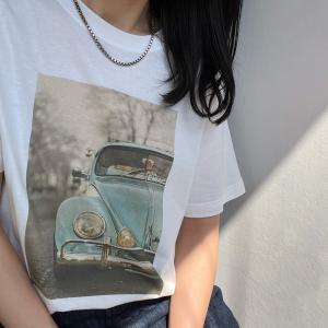 セール メ1.5 トップス 大人女子 ゆったり フォトTシャツ レディース おしゃれ フォトT カットソー 半袖 ユニセックス|cocorocreation