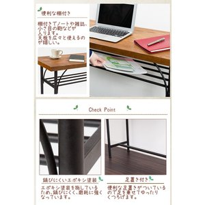 バーテーブル 机 カウンターテーブル 棚付き 足置き付き 木製 アジャスター カフェ風テーブル cocosa 05