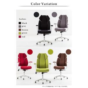 オフィスチェア メッシュ リクライニング クッション ハイバック 肘付 おしゃれ 快適 椅子 イス|cocosa|02
