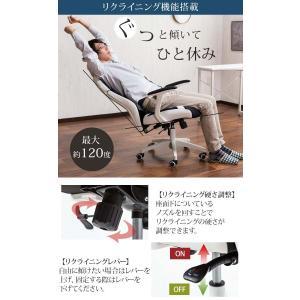 オフィスチェア メッシュ リクライニング クッション ハイバック 肘付 おしゃれ 快適 椅子 イス cocosa 06