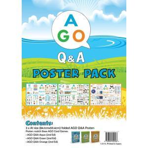 AGO Q&A 教室用 ポスター 3レベル セット 英語 cocoshopjapanstore