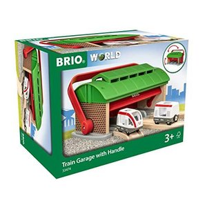 BRIO(ブリオ)WORLD ハンドル付列車車庫 [木製レール おもちゃ] 33474 cocoshopjapanstore