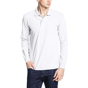 [プリントスター] 5.8オンス TC 鹿の子 長袖 ポロシャツ [ポケット付] 00169-VLP メンズ ホワイト M|cocoshopjapanstore