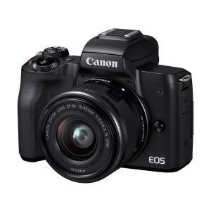 新品・未使用品  Canon EOS kiss M EF-M15-45 IS STM レンズキット ブラック 一眼レフカメラ【ダブルズームレンズキット化粧箱】|cocoshopjapanstore
