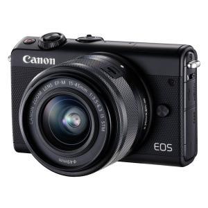 キヤノン Canon EOS M100 EF-M15-45 IS STM レンズキット [ブラック] ミラーレス【新品・国内正規品・ダブルレンズキット元箱】|cocoshopjapanstore