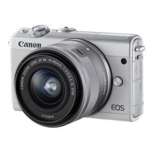 Canon EOS M100 EF-M15-45 IS STM レンズキット [ホワイト] ミラーレス キヤノン【新品・国内正規品・ダブルレンズキット化粧箱】|cocoshopjapanstore