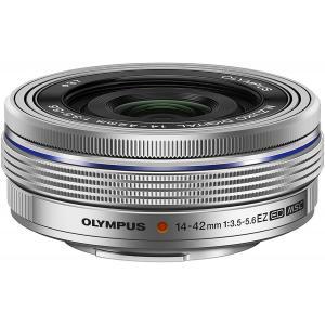 【新品】標準レンズ OLYMPUS オリンパス M.ZUIKO DIGITAL ED 14-42mm F3.5-5.6 EZ 電動ズームレンズ シルバー|cocoshopjapanstore