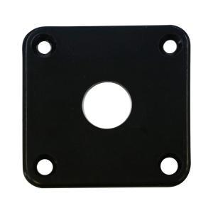 ジャックプレート 角型 プラスチック ブラック/アイボリー cocosoundweb