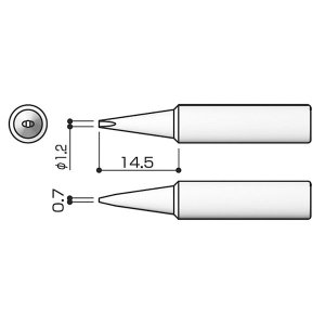 白光:FX-888用 こて先/1.2D型 T1...の関連商品2