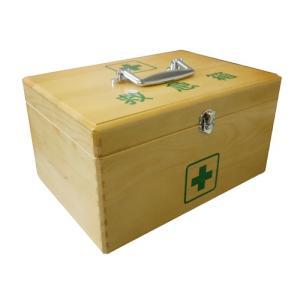 日進医療器株式会社:LE木製救急箱Sサイズ(応急処置用品付き) 782504