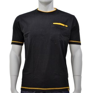アグロワークス:配色アンチドロップTシャツ ブラック 5L 7212016|cocoterrace