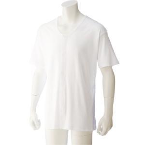紳士半袖大寸ワンタッチシャツ(ホワイト) 38130 脱ぎ着しやすい工夫を凝らした設計 の商品画像|ナビ