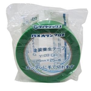 ダイヤテックス:パイオランクロス養生用テープ 緑 25mm×25m G-56