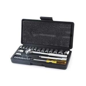 差込角6.35・9.5mmのソケットレンチセット(28ピース入り)です。  【用途】 ボルト・ナット...