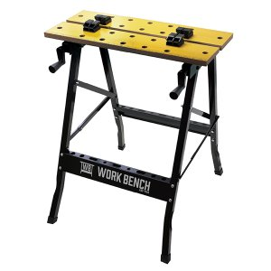 作業台、バイス、ツールラックが一体で使いやすさ抜群! 平板、角材、丸棒など色々固定できます。 工具を...