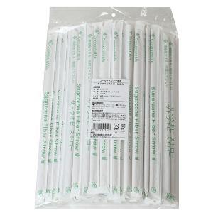江戸川物産:ファイバーストロー φ6x210mm 紙袋入 フラットカット 100本 BS621SP