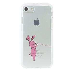 ROA iPhone 7用 ソフトクリアケース 糸電話 ウサギ Dparks DS8288i7の商品画像 ナビ