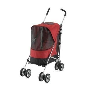 (あすつく)リッチェル:ペットバギー ラコット レッド 耐荷重12kg 在庫限り ペットカート 折り...