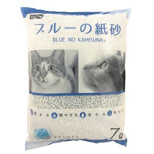 ペットプロジャパン:ペットプロ ブルーの紙砂 7L 猫 砂 猫砂 トイレ 紙 再生紙 固まる 燃やせ...