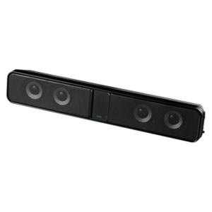 サンワサプライ:液晶テレビ・パソコン用サウンドバースピーカー MM-SPSBA2N