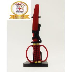 ニッケン刃物:日本刀はさみ(レッド) 掛け台付き SW-28R