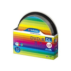 Verbatim(バーベイタム):データ用DVD−R DL 8.5GB ワイドプリンタブル スピンドルケース DHR85HP10SV1 1パック(10枚) 2283197