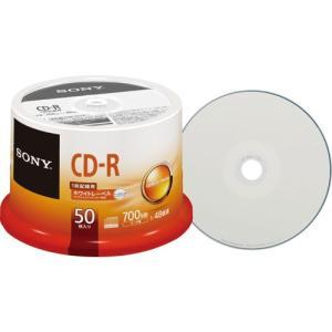 SONY(ソニー):データ用CD−R 700MB 48倍速 ホワイトワイドプリンタブル スピンドルケース 50CDQ80TPP 1個(50枚) 3260135