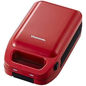 (あすつく)mhエンタープライズ:ビタントニオ 厚焼きホットサンドベーカー トマト レッド VHS-...